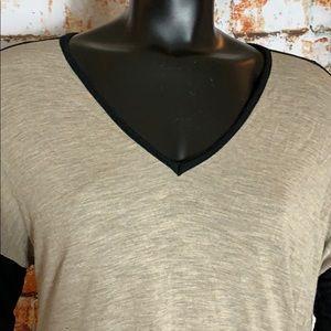 Madewell Tops - Madewell Black and Brown Long Sleeve V-Neck